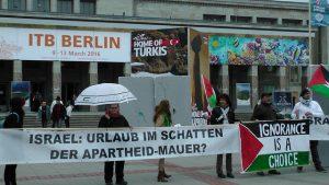Keine Unterstützung der israelischen Apartheid auf der ITB