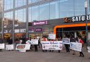 Stop Hewlett Packard (HP) – Kundgebung vor SATURN Alexanderplatz