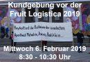 Kundgebung vor der Fruit Logistica 2019
