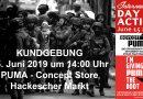 Boykottiert PUMA! Kundgebung am Hackeschen Markt