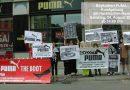 Boykottiert PUMA! Protest-Kundgebung am Hackeschen Markt