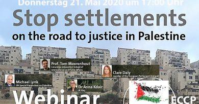 Webinar: Schluss mit den Siedlungen – Auf dem Weg zur Gerechtigkeit in Palästina