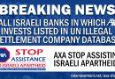 UN-Datenbank von Unternehmen in den illegalen israelischen Siedlungen: Fünf israelische Banken, in die AXA investiert