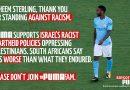 Fordert den Fußballersuperstar Raheem Sterling auf, nicht bei Puma zu unterschreiben