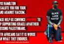 Fordert Lewis Hamilton auf, Puma dazu zu bewegen, seine Unterstützung für Israels Apartheid einzustellen
