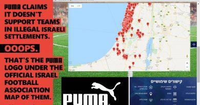 Zum palästinensischen Tag des Bodens: Schickt Puma auf eine virtuelle Tour, auf der seine Unterstützung für Israels illegale  Landnahme offenkundig wird!