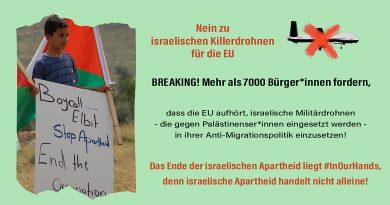 Genug ist genug: NEIN zur EU-Politik und Zusammenarbeit mit Israel!