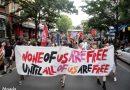 10.000 Demonstrant*innen gehen für den intersektionalen queeren Befreiungskampf auf die Straße bei Berlins erster internationalistischen Pride